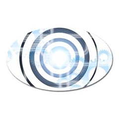 Center Centered Gears Visor Target Oval Magnet