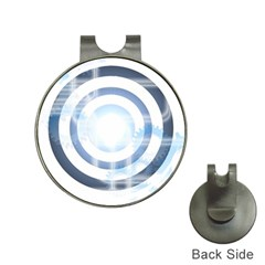 Center Centered Gears Visor Target Hat Clips With Golf Markers