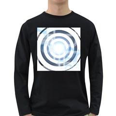 Center Centered Gears Visor Target Long Sleeve Dark T Shirts