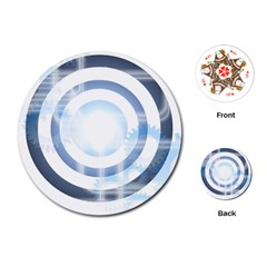 Center Centered Gears Visor Target Playing Cards (round)