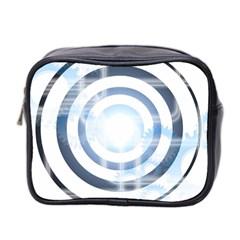 Center Centered Gears Visor Target Mini Toiletries Bag 2-Side