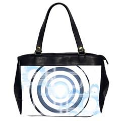 Center Centered Gears Visor Target Office Handbags (2 Sides)