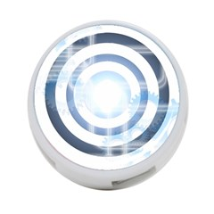 Center Centered Gears Visor Target 4 Port Usb Hub (two Sides)