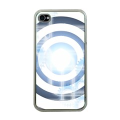 Center Centered Gears Visor Target Apple Iphone 4 Case (clear)