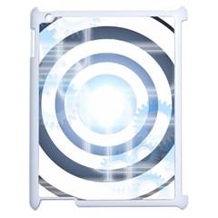 Center Centered Gears Visor Target Apple Ipad 2 Case (white)