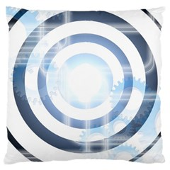 Center Centered Gears Visor Target Large Cushion Case (two Sides)