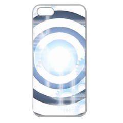 Center Centered Gears Visor Target Apple Seamless Iphone 5 Case (clear)