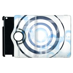 Center Centered Gears Visor Target Apple iPad 2 Flip 360 Case