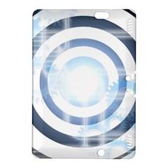Center Centered Gears Visor Target Kindle Fire Hdx 8 9  Hardshell Case