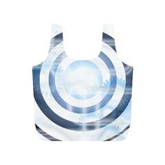 Center Centered Gears Visor Target Full Print Recycle Bags (S)