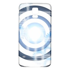 Center Centered Gears Visor Target Samsung Galaxy S5 Back Case (White)