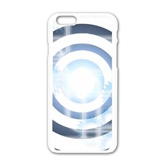 Center Centered Gears Visor Target Apple Iphone 6/6s White Enamel Case