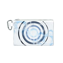 Center Centered Gears Visor Target Canvas Cosmetic Bag (S)