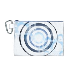 Center Centered Gears Visor Target Canvas Cosmetic Bag (m)