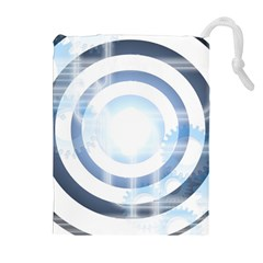 Center Centered Gears Visor Target Drawstring Pouches (Extra Large)