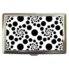 Dot Dots Round Black And White Cigarette Money Cases