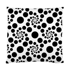 Dot Dots Round Black And White Standard Cushion Case (one Side)