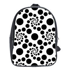 Dot Dots Round Black And White School Bags(Large)