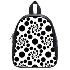Dot Dots Round Black And White School Bags (small)