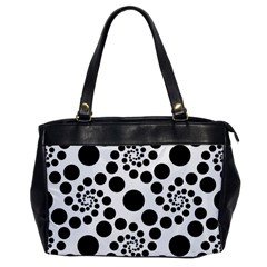 Dot Dots Round Black And White Office Handbags