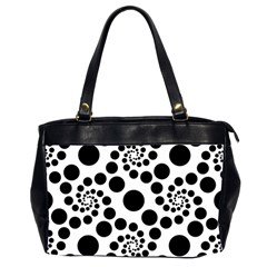 Dot Dots Round Black And White Office Handbags (2 Sides)