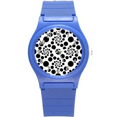 Dot Dots Round Black And White Round Plastic Sport Watch (s)