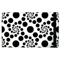 Dot Dots Round Black And White Apple Ipad 3/4 Flip Case