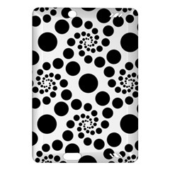 Dot Dots Round Black And White Amazon Kindle Fire Hd (2013) Hardshell Case