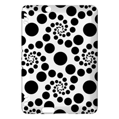 Dot Dots Round Black And White Kindle Fire HDX Hardshell Case