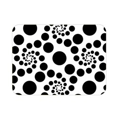 Dot Dots Round Black And White Double Sided Flano Blanket (mini)