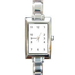 Solid Snow White Christmas Color Rectangle Italian Charm Watch