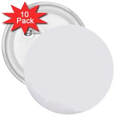 Solid Snow White Christmas Color 3  Buttons (10 pack)