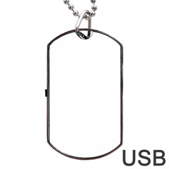 Solid Snow White Christmas Color Dog Tag USB Flash (One Side)