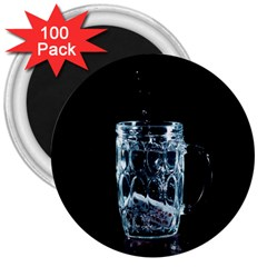 Glass Water Liquid Background 3  Magnets (100 pack)