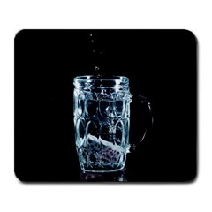 Glass Water Liquid Background Large Mousepads