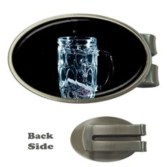 Glass Water Liquid Background Money Clips (oval)
