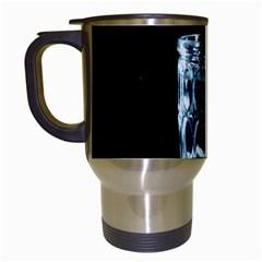 Glass Water Liquid Background Travel Mugs (White)