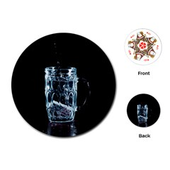 Glass Water Liquid Background Playing Cards (Round)