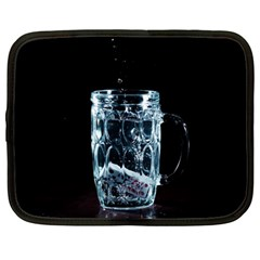 Glass Water Liquid Background Netbook Case (Large)