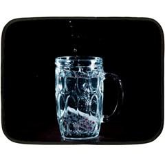 Glass Water Liquid Background Fleece Blanket (Mini)