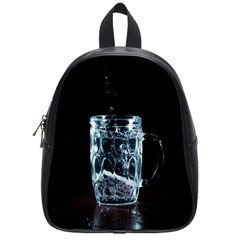 Glass Water Liquid Background School Bags (small)