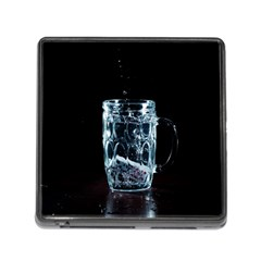 Glass Water Liquid Background Memory Card Reader (Square)
