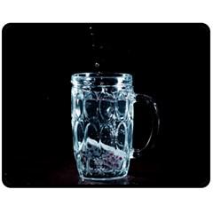 Glass Water Liquid Background Fleece Blanket (medium)