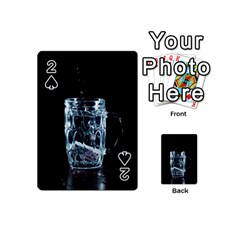 Glass Water Liquid Background Playing Cards 54 (Mini)