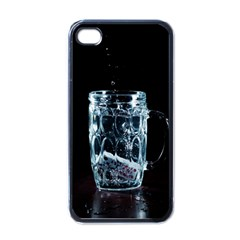 Glass Water Liquid Background Apple Iphone 4 Case (black)