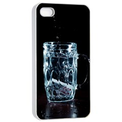 Glass Water Liquid Background Apple iPhone 4/4s Seamless Case (White)