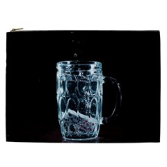 Glass Water Liquid Background Cosmetic Bag (xxl)