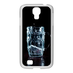 Glass Water Liquid Background Samsung Galaxy S4 I9500/ I9505 Case (white)