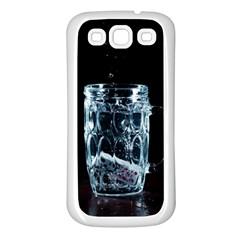 Glass Water Liquid Background Samsung Galaxy S3 Back Case (white)