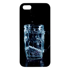 Glass Water Liquid Background iPhone 5S/ SE Premium Hardshell Case